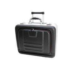 """18"""" Computer Case with Molded EVA/ Aluminum Frame and Wheels: 4 1/2"""" H x 16 3/4"""" W x 12"""" D"""