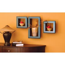 Cubbi Framed 3 Piece Wall Shelf Set