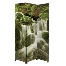 "71"" x 47.5"" Bota Stretched Canvas 3 Panel Floor Screen Room Divider"