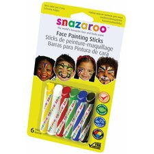 Primary Face Painting Sticks (Set of 6)