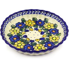 Polish Pottery Fluted Pie Dish