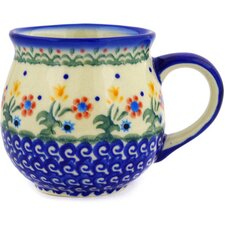 Polish Pottery 12 oz. Stoneware Bubble Mug
