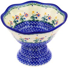 Polish Pottery 27 oz. Stoneware Bowl with Pedestal