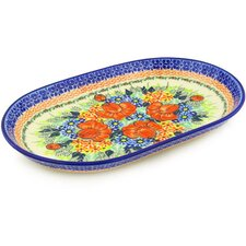 "Polish Pottery 13"" Oval Platter"