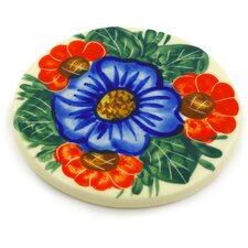 "Polish Pottery 3.5"" Coaster"