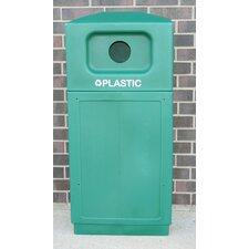 39-Gal Hooded Top Recycling Bin