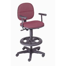Adjustible Drafting Chair with Fixed T-Arms