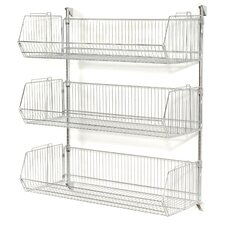 "Wall Mount Basket 34"" H 2 Shelf Shelving Unit"
