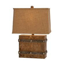"""Urban Antiqued Weathered 23"""" H Table Lamp with Rectangular Shade"""