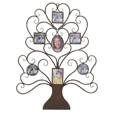 "Family Tree Photo Frame Large 40"" Metal Art Wall Decor"