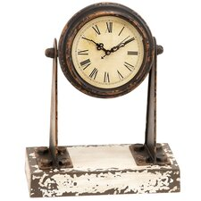 Antique Weathered Miniature Spotlight Mantle Clock