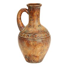 Porto Fino Distress Terra Cotta Art Urn Ceramic Vase