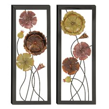 Urban Designs 2 Piece Spring Flowers Wall Decor Set