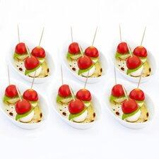 """Sandra Venditti 11"""" Porcelain Appetizer Plate (Set of 6)"""