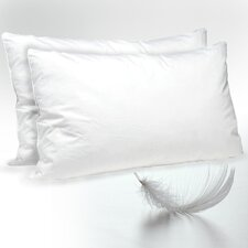 White Duck Feather Standard Pillow (Set of 2)
