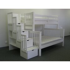 Twin Over Full Bunk Bed with Drawer