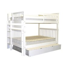 Full Over Full Bunk Bed with Full Trundle