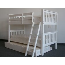 Twin Over Twin Bunk Bed with Twin Trundle