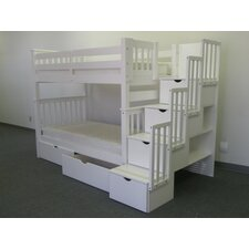 Tall Twin Bunk Bed with Twin Trundle