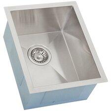 "Ticor 14"" X 17-1/2"" Inch Zero Radius 16 Gauge Stainless Steel Single Bowl Square Undermount Kitchen Bar Sink"