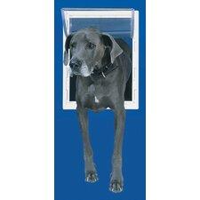 Medium White Aluminum Pet Door