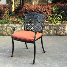 ComfortCare Stacking Patio Dining Arm Chair with Cushion (Set of 6)