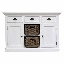 Halifax 3 Drawer Buffet Dresser with 2 Rattan Baskets