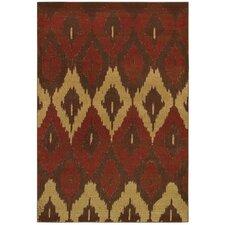 Alameda Cultural Weave Maroon/Beige Area Rug