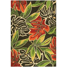 Covington Areca Palms Brown/Forest Green Area rug