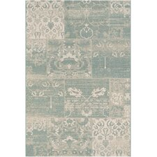Afuera Country Cottage Sea Mist & Ivory Indoor/Outdoor Area Rug