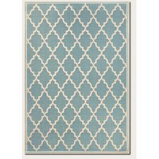 Monaco Ocean Port Turquoise/Sand Indoor/Outdoor Area Rug
