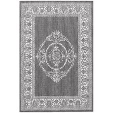 Recife Antique Medallion Grey & White Indoor/Outdoor Area Rug