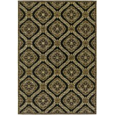 Dolce Black/Gold Napoli Indoor/Outdoor Area Rug