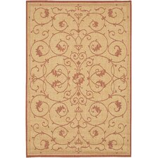 Recife Veranda Terracotta & Natural Indoor/Outdoor Area Rug
