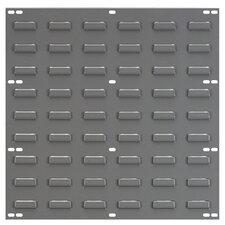"""Louvered Panel, Wall Mountable, 1""""x18""""x19"""", Gray"""
