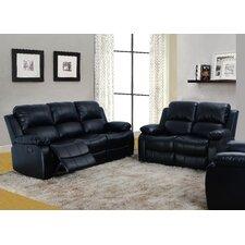 Denver 2 Piece Bonded Leather Reclining Living Room Sofa Set