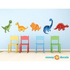 Adorable Dinosaur Fabric Wall Decal