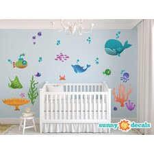 Under The Sea Fabric Wall Decal