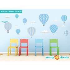 Hot Air Balloons Fabric Wall Decal