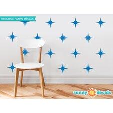 Retro Stars Fabric Wall Decal (Set of 22)