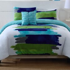 Watercolor Blue Comforter Set in Blue & Green