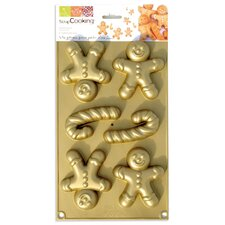 100% Platinum Silicone GingerBread Man Mold
