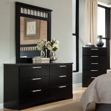 Atlanta 6 Drawer Dresser with Mirror