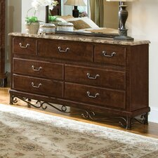 Santa Cruz 7 Drawer Dresser with Mirror