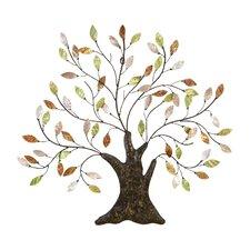 Cosmopolitian Tree & Leaves Wall Décor