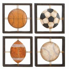 4 Piece Cosmopolitian Ball Lovers Wall Plaque