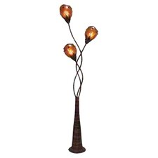 Toscana Metal Abaca Decorative Floor Lamp