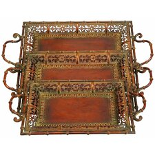 Toscana 3 Piece Chic Serving Tray Set