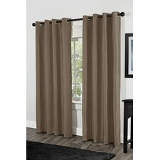 Shantung Faux Silk Thermal Grommet Top Window Curtain Panels (Set of 2)