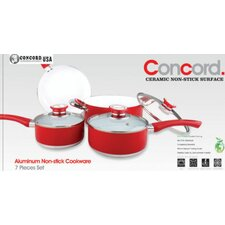 7 Piece Ceramic Non-stick Cookware Set